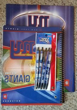 NFL Licensed Notebook, Folder & Pens ~ New York Giants
