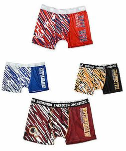 NFL Men's Wordmark Compression Boxer Shorts Underwear- Pick