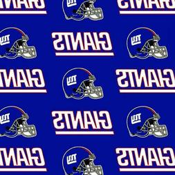 """NFL NEW YORK GIANTS 100% Cotton Fabric licensed 60"""" wide 631"""