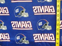 NFL NEW YORK GIANTS 100% COTTON FABRIC FAT QUARTER  18X28 IN