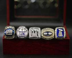 NFL New York Giants 5 Rings Championship Rings Replica Displ