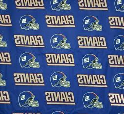 NFL New York Giants Blue Logo Cotton Fabric by the 1/4,1/2,Y
