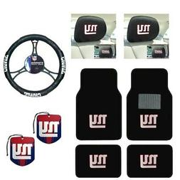 NFL New York Giants Car Truck Floor Mats Steering Wheel Cove