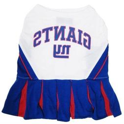 "NFL New York Giants Cheerleader Pet Dress-XS Fits 6""-8 1/2"""