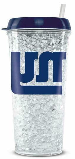 NFL New York Giants Crystal Freezer Travel Tumbler Mug w/Str