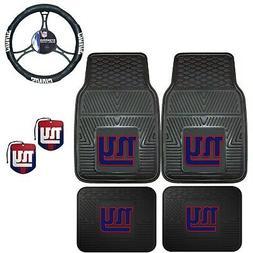 NFL New York Giants Floor Mats Steering Wheel Cover & Air Fr