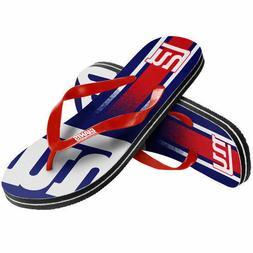 NFL New York Giants Gradient Flip Flops Beach Sandals NEW