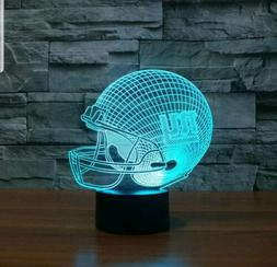 NFL New York Giants Helmet 3D illusion 7 Color Change LED Ni