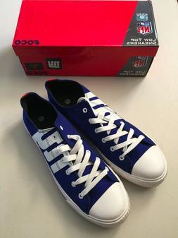 NFL NEW YORK GIANTS Men's Low Top Sneakers Size 12 BRAND NEW