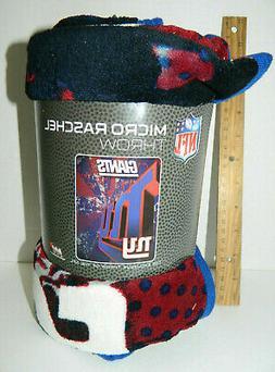 NFL New York Giants 46-Inch-by-60-Inch Micro-Raschel Blanket