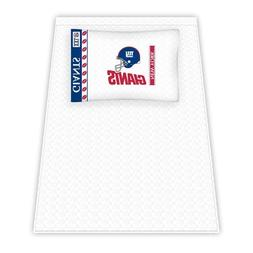 NFL New York Giants Micro Fiber Sheet Set, Twin