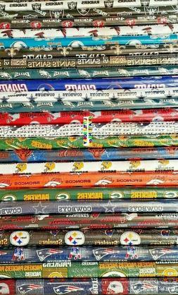 NFL NEW YORK GIANTS, NEW YORK JETS Cotton Fabric - 1/4 Yard