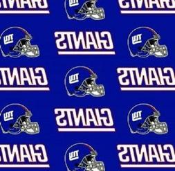 NFL NEW YORK GIANTS OFFICIAL Cotton Fabric by Fabric Traditi