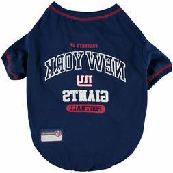 Pets First NFL New York Giants Property NYG T shirt Dog clot