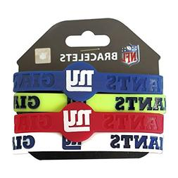 NFL New York Giants Silicone Rubber Wrist Band Bracelet , On