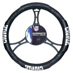 NFL New York Giants Steering Wheel Cover, Black, One Size