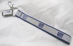 NFL New York Giants Wristlet Key Chains Sparkle Lanyard