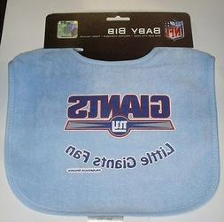 NFL NWT INFANT BABY BIB- BABY BLUE - NEW YORK GIANTS