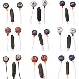 NFL Team Logo Earphones with Microphone by MIZCO -Select- Te