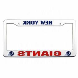 Rico NFL White Plastic License Plate Frame New York Giants N