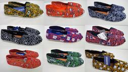 NFL Women's Canvas Script Slip On Shoes Toms Style