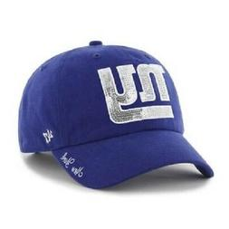 NFL Women's New York Giants Sparkle Clean-Up Adjustable 47'