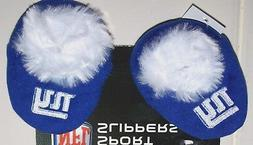 Nwt New York Giants Football NFL Logo Slippers Shoes Booties