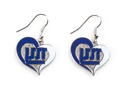 NWT Aminco NFL New York Giants Swirl Heart Shaped Earring Da