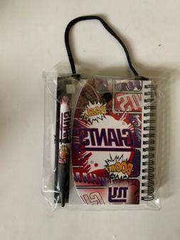 "NY Giants Hardcover 4x6"" Notebook and Pen Set Fantasy Foot"