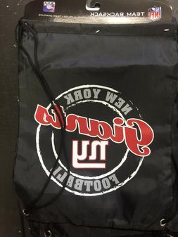 NY New York GIANTS Back Pack/Sack Drawstring Bag/Tote NEW!