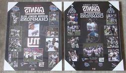 Pair of New York Giants Super Bowl Championship Plaques from