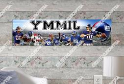 Personalized/Customized New York Giants Name Poster Wall Art