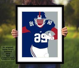 SAQUON BARKLEY New York Giants Photo Art 8x10 or 11x14 NY Fo