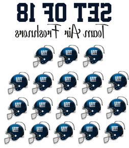 Set of 18 New York Giants Team Helmet Car Vehicle Room Cave