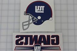 Set of 2 NFL New York Giants vinyl decal stickers bumper, ca