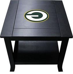 Side End Table Hardwood Officially Licensed NFL Furniture Ne
