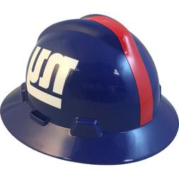 MSA V-Gard FULL BRIM NEW YORK GIANTS NFL Hard Hat Type 3 RAT