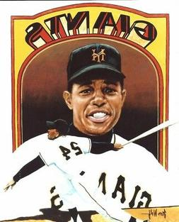 WILLIE MAYS 8x10 ART PHOTO Vintage Artwork Picture NEW YORK